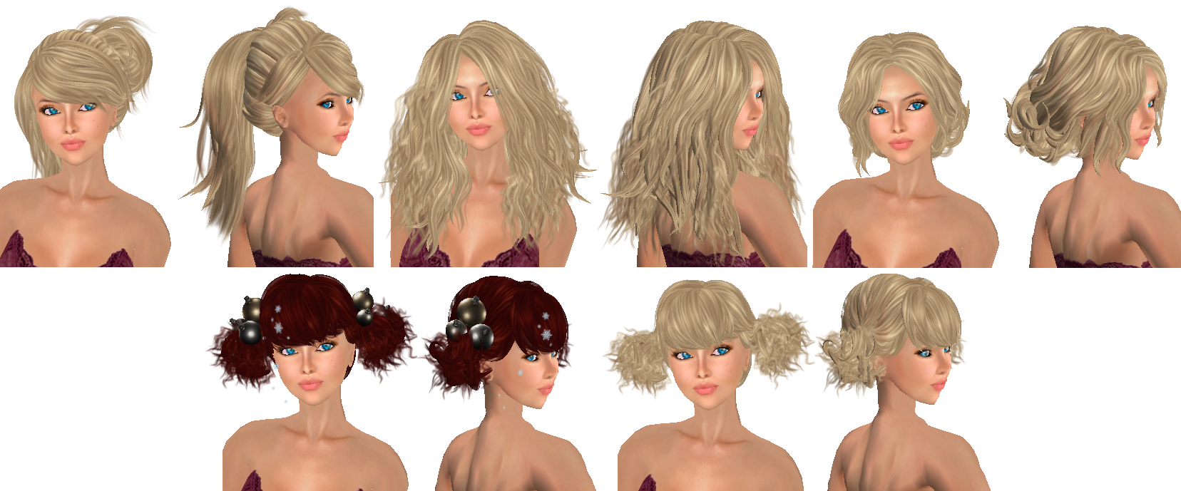 Superb My Style In Second Life Short Hairstyles For Black Women Fulllsitofus