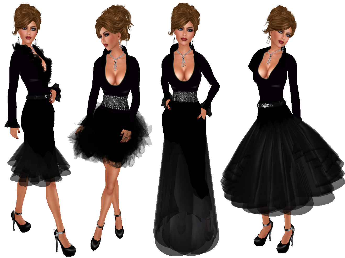 My Style in Second Life: NEW Sascha\'s Designs - Swirly Black ...