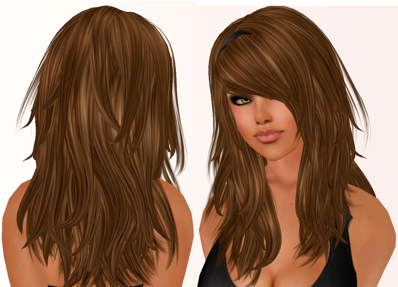 Long Layered Hair with Bangs
