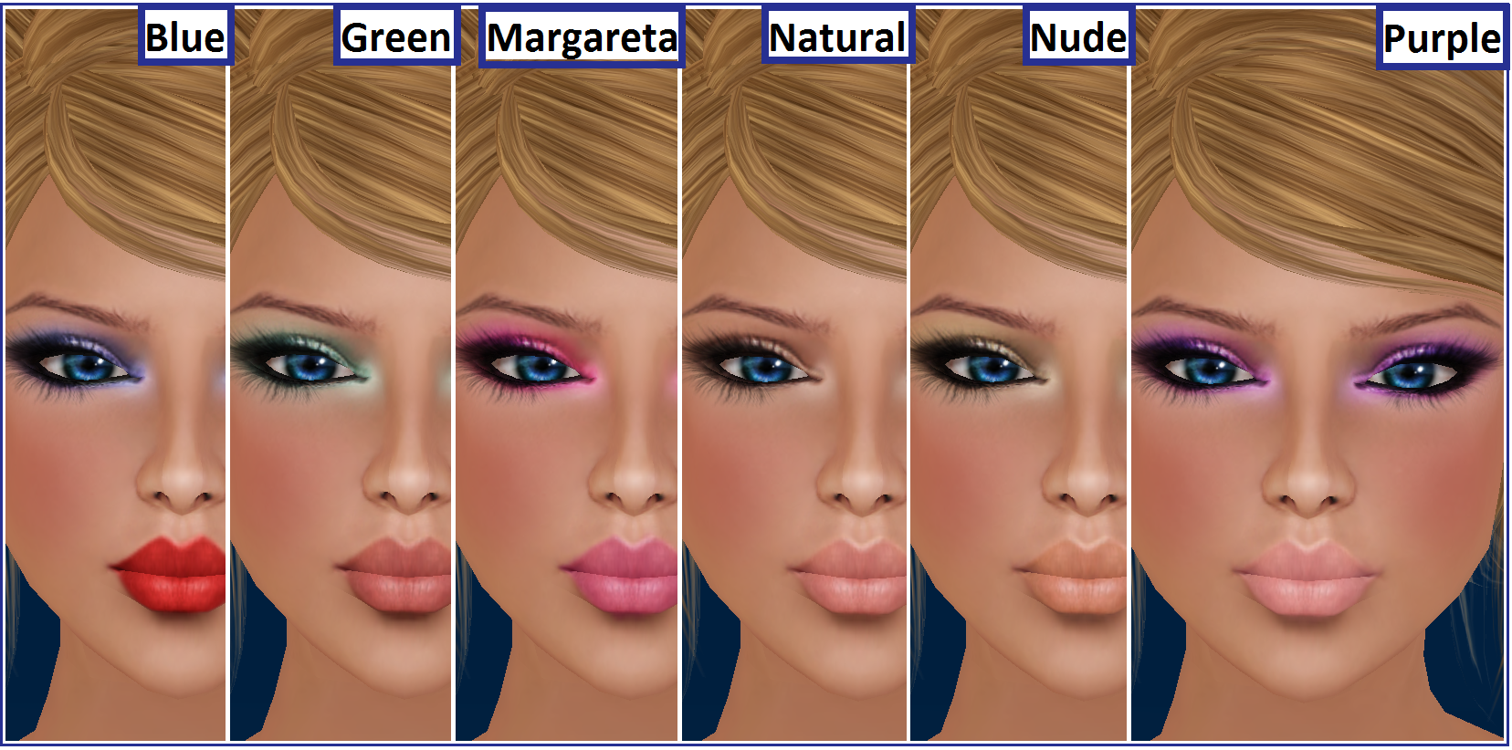 Makeup for round faces