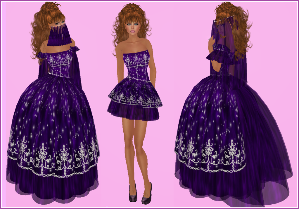 NEW CandyDoll Tan Lilly Purple Makeup w/Cleavage
